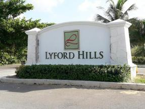LYFORD HILLS SUBDIVISION,Lyford Cay